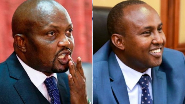 MPs Moses Kuria and Junet Mohamed. Moses Kuria's interesting message to Junet over Aisha Jumwa ouster