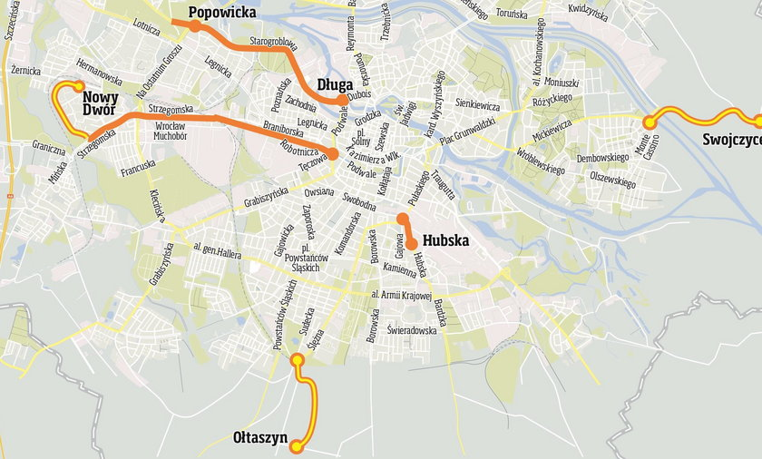 Nowe linie tramwajowe we Wrocławiu