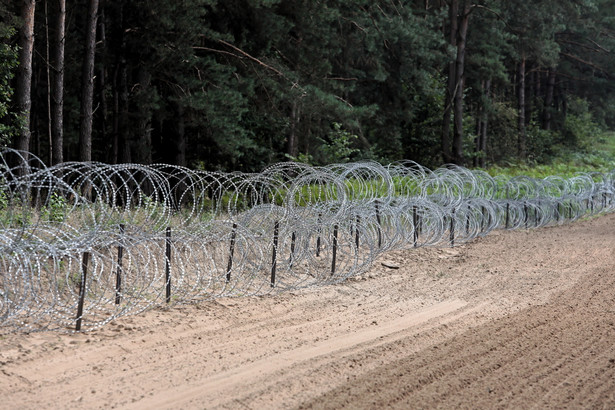 Drut kolczasty, granica polsko-białoruska