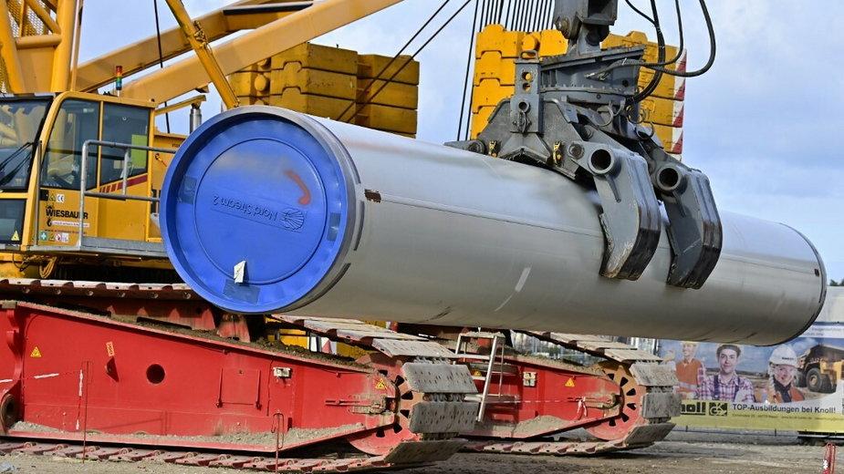 Lubmin, Niemcy. Budowa Nord Stream 2