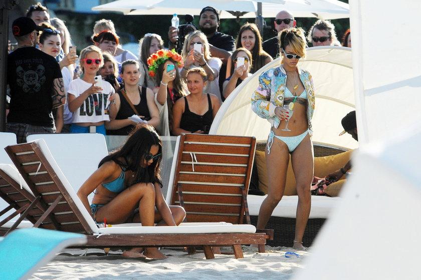 Rihanna na plaży w Sopocie