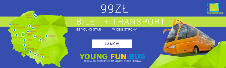 Bilet plus Transport na Young Stars Festival