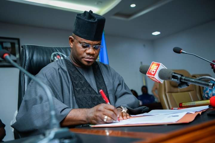 Governor Yahaya Bello at work in Kogi (Guardian)