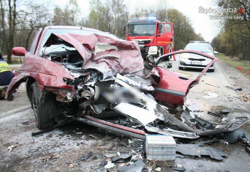 Cztery osoby ranne w wypadku
