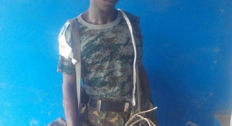 The fake soldier, Ayodele Adedeji