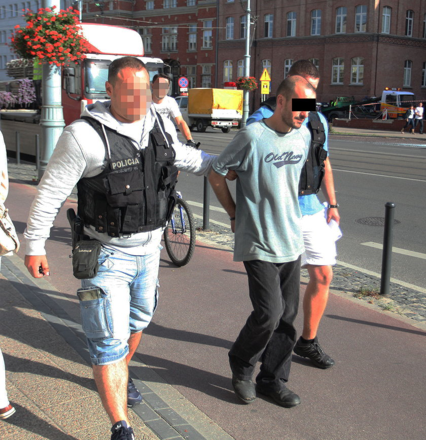 Policja prowadzi podpalacza Marcina W.