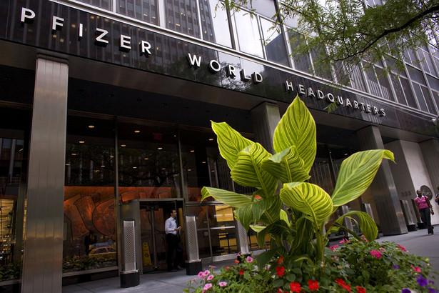 Główna siedziba firmy Pfizer w Nowym Jorku, fot. Bloomberg