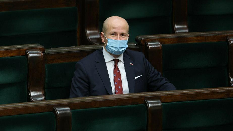 Bartłomiej Wróblewski podczas 28. posiedzenia Sejmu IX kadencji