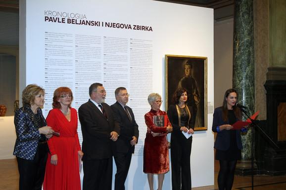 Sa otvaranja izložbe u Umetničkom paviljonu u Zagrebu
