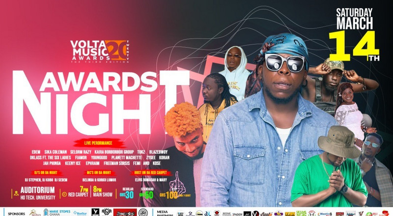 Edem, Keeny Ice, others billed for Volta Music Awards '20 Saturday