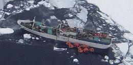 Sparta tonie u wybrzeży Antarktydy, jest minus 37 stopni!