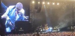 Dramat Eltona Johna na scenie podczas koncertu. Fani w szoku