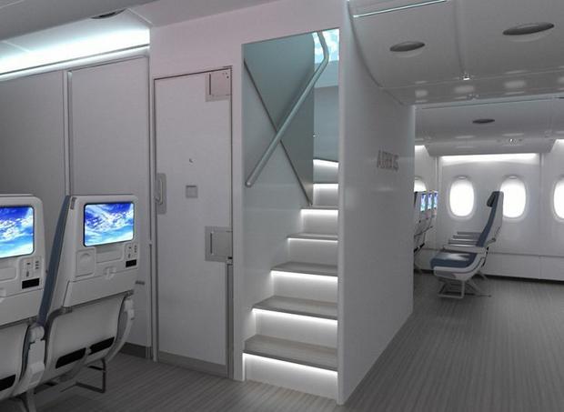 A380neo - nowy układ schodów