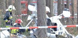 Wypadek policyjnego samolotu w Polsce. ZDJĘCIA
