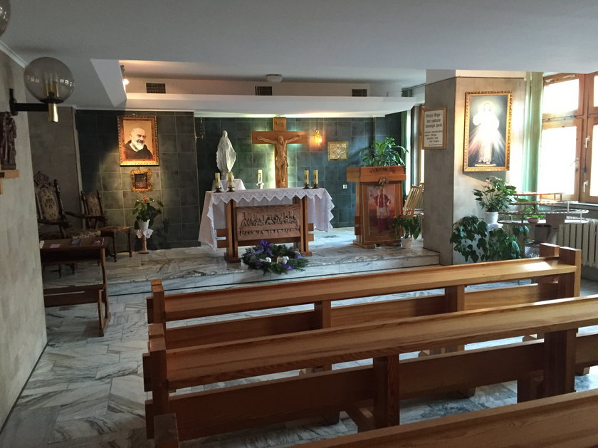 Kaplica, z której skradziono relikwiarz