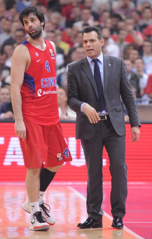 Miloš Teodosić i Dimitris Itudis