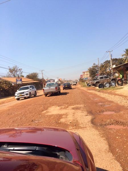 Droga w północnym Laosie