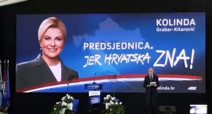 Kolinda Grabar Kitarović, objava kandidature