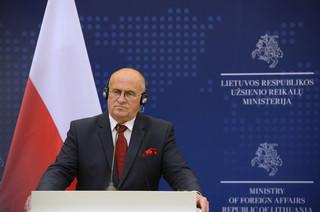 Szefowie MSZ Polski i Litwy: Musimy działać razem w związku z wojną hybrydową