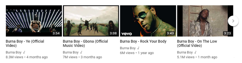 Burna Boy Top 4