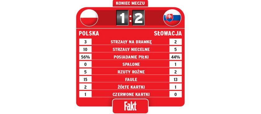 Statystyki meczu Polska-Słowacja