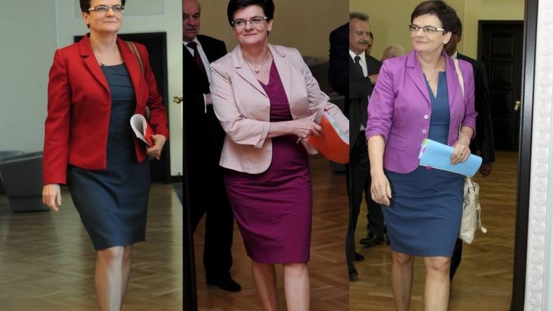 Pani minister jest wierna sukienkom i spódnicom o długości przed kolano