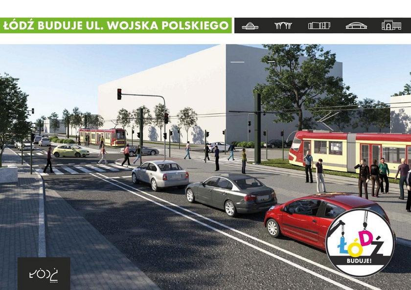 Remont ulicy Wojska Polskiego w Łodzi. Tramwaj za trzy lata?