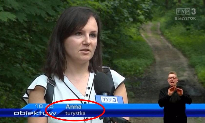Wpadka TVP. Czy pani Anna rzeczywiście jest turystką?