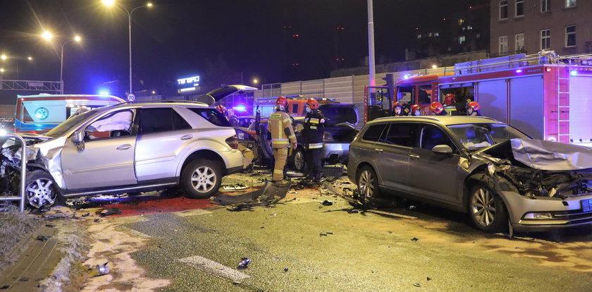 Po wypadku siedmiu aut są ustalenia śledczych: sprawca pędził jak szalony
