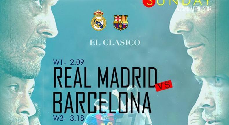 Real Madrid versus Barcelona.