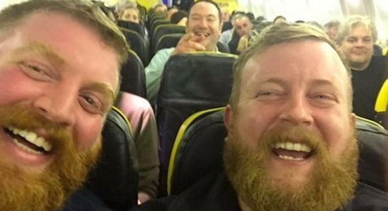 Neil Douglas and his look alike meet for the first time on a plane