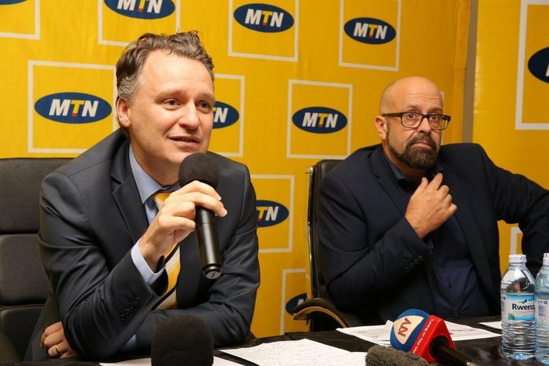 Wim Vanhelleputte CEO MTN Uganda (L)