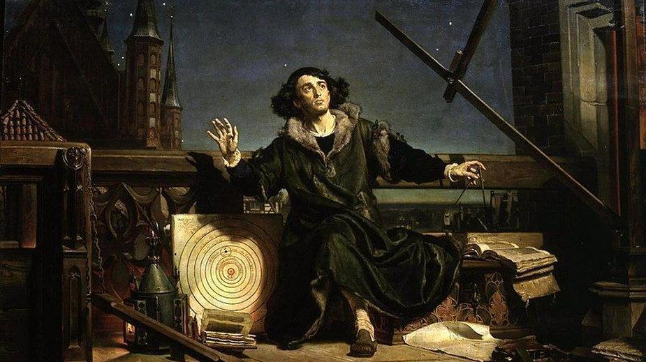 """""""Astronom Kopernik, czyli rozmowa z Bogiem"""", obraz Jana Matejki, 1872 rok, domena publiczna"""