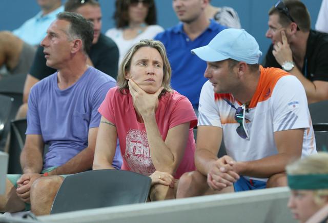 Petar Popović sa roditeljima Andree Petković koju je trenirao, Amirom i Zoranom
