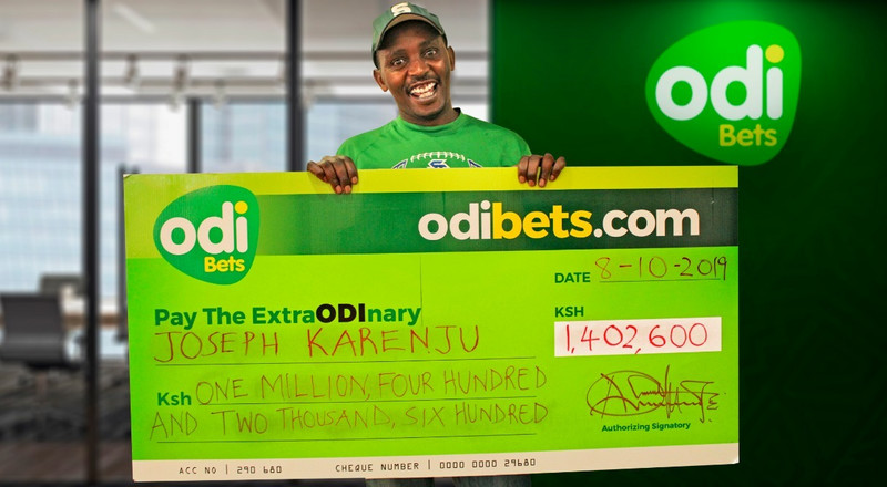 Nyeri Man becomes instant Millionaire on Odibets with Sh30