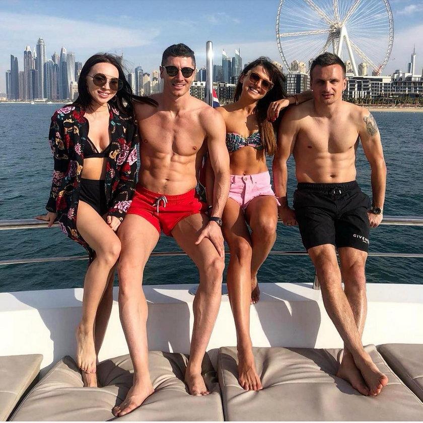 Wygłupy Lewandowskich na jachcie w Dubaju