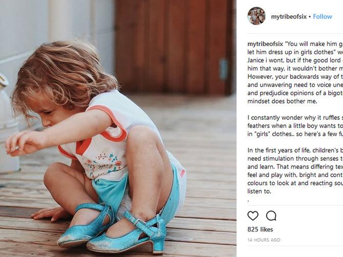 Objavila je sliku sina na štiklama i navukla na sebe bes javnosti