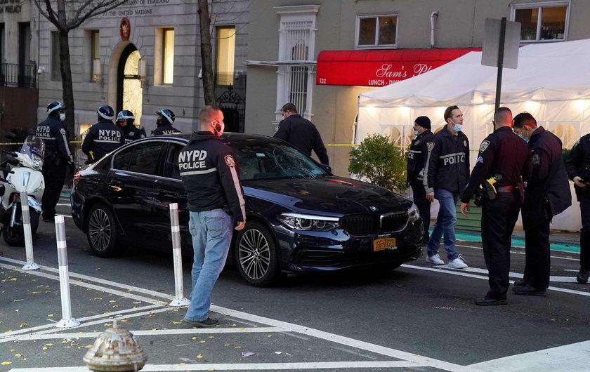 Samochód wjechał w uczestników protestu
