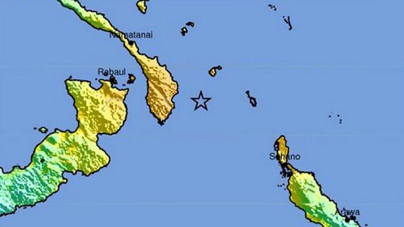 Mapa regionu, w którym doszło do trzęsienia ziemi