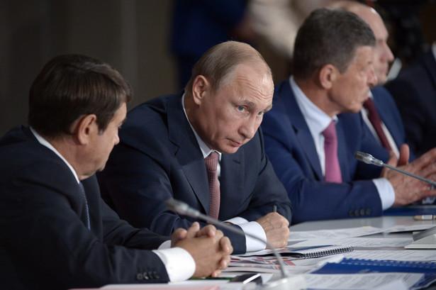 Prezydent Rosji Władimir Putin podczas wizyty na Krymie