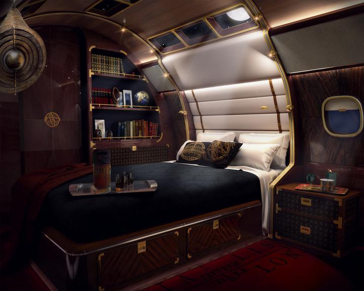 Druga z designerskich wersji L1000 to Skyacht. Wówczas sypialnia przypomina kajutę kapitana...