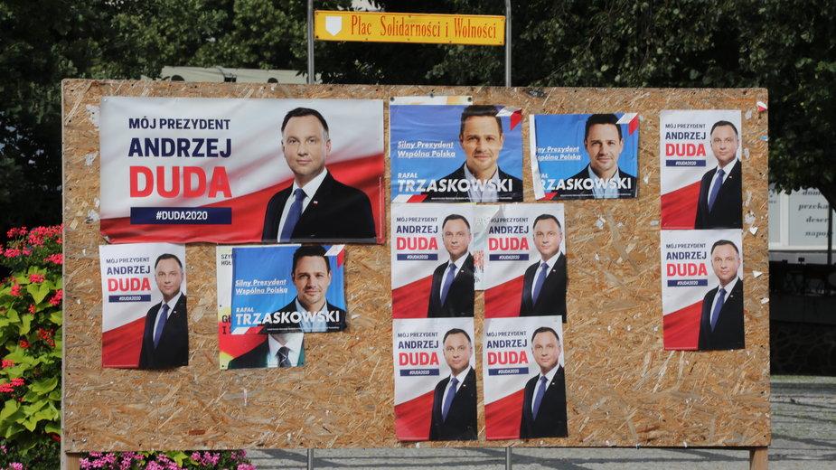 Łuków podczas wizyty kandydata na stanowisko prezydenta RP, prezydenta Andrzeja Dudy
