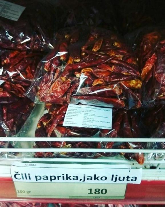 Čili paprika za 180 dinara
