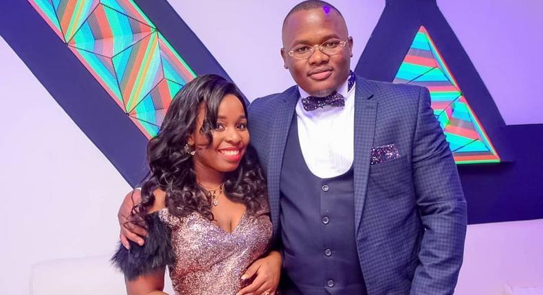 Saumu Mbuvi with her Boyfriend