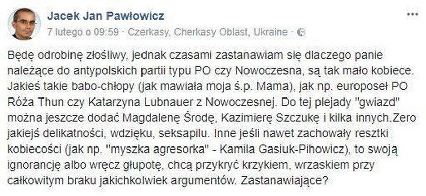 Obrzydliwy komentarz polskiego księdza. Mówi o seksapilu posłanek