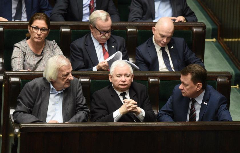 Kaczyński nie pojawił się na minucie ciszy