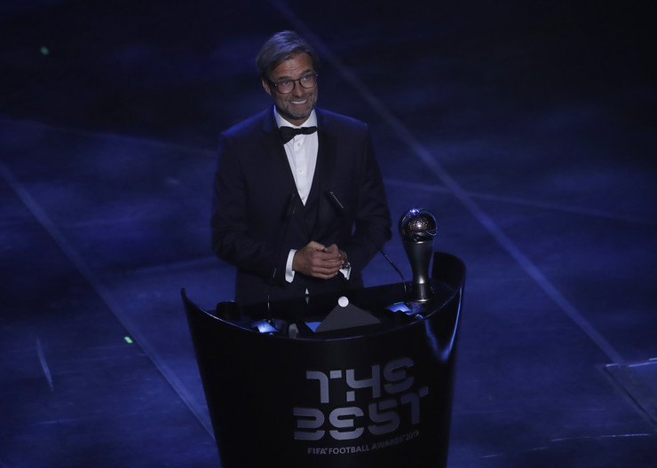 Jirgen Klop na dodeli FIFA nagrada u Milanu