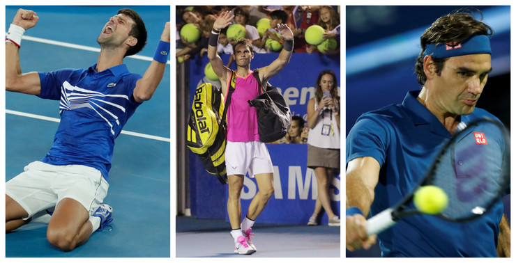 Rafael Nadal, Novak Đoković, Rodžer Federer