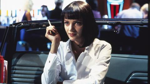 "Filmowa Mia Wallace w ""Pulp Fiction"", grana przez Umę Thurman"