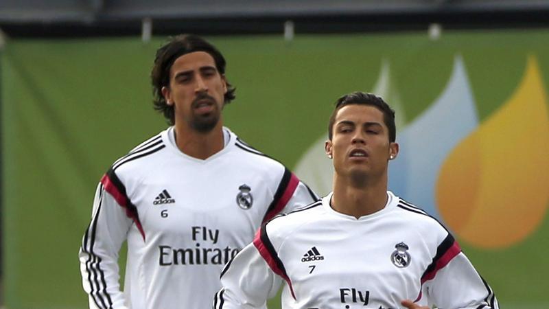Cristiano Ronaldo (z prawej) i Sami Khedira